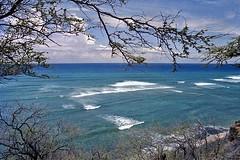 The Dry Side of Paradise (AntyDiluvian) Tags: hawaii 2001 30thanniversary oahu honolulu diamondhead diamondheadroad surf landscape seascape