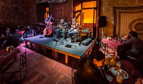 On Stage at Amati Jazz Club - Leste Sibela