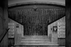 Mask of stairs (coachgodzup1) Tags: blackandwhite biancoenero fuji fujifilm xt10 architecture soviet scary disturbing