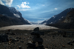 Athabasca Glacier (Kristian Francke) Tags: landscape glacier athabasca receding outdoors people rock mountains mountain cliff sheer ice snow summer blue grey brown pentax tamron august 2016 31 alberta canada jasper national park