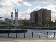 Salford Quays & MUFC Stadium (streetr's_flickr) Tags: salfordquays manchester mediacity reflections