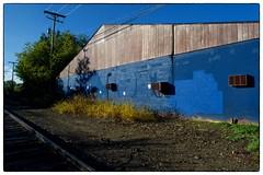 Blue Warehouse - Ann Arbor, MI (gastwa) Tags: nikon df pce nikkor 24mm f35d ed tilt shift tiltshift wide angle wideangle manual focus manualfocus ann arbor annarbor a2 michigan university warehouse industry urban city travel andrew gastwirth andrewgastwirth full frame fullframe fx