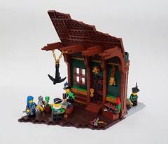 A Quick Eslandolan Lesson on Profit! (Robert4168/Garmadon) Tags: lego brethrenofthebrickseas anchor chandelier captainwhiffo mylesbowditch etwc headquarters pontelli bobs building commerce monkey