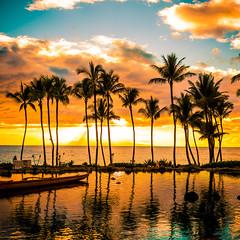 Painted Island (Thomas Hawk) Tags: grandwailea hawaii maui wailea waldorfastoria waldorfastoriagrandwailea beach clouds humuhumu humuhumunukunukuapuaa palmtree restaurant sunset tree fav10 fav25 fav50