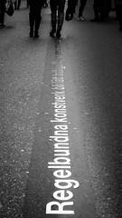 The Line (Mannematte) Tags: fotosondag rad fs161016 blackandwhite street streetart