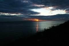 Golden Sunset (bimbler2009) Tags: sonyalpha900 outdoor sky clouds sun landscape silhouette seaside shore ocean golden movement motion dusk nature