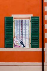 Trompe-l'oeil (orange) ((Imagine)) Tags: 2016 italy liguria loano sonyrx100m4 architecture streetart urbanexploration 2015 colours