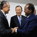 World Bank Group President Jim Yong Kim, Secretary-General of the United Nations Ban Ki-moon and President of Somalia, H. E. Mr. Hassan Sheikh Mohamud