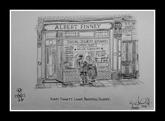 albert finney's by broady 2014 (Broady - Salford art and photography) Tags: art shop pencil manchester sketch artwork drawing picture actor pendleton salford broughton broady broadhurst albertfinney finneysbybroady2014