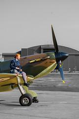 P7350, Supermarine Spitfire, Battle Of Britain Memorial Flight, RAF Coningsby (Eeee Bi Gum) Tags: lincolnshire spitfire raf supermarine battleofbritainmemorialflight wraf supermarinespitfire 41squadron rafconingsby