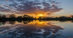 don't let the sun..... (www.petje-fotografie.nl) Tags: water kerk molen gelderland spiegeling enspijk