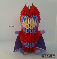 Magneto X-Men Origami 3d (Samuel Sfa87) Tags: nerd comics paper 3d origami comic arte xmen sfa block mutant marvel artisan magneto papercraft mutante arteempapel blockfolding origami3d sfaorigami sfa87 arteconlacarta