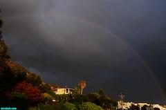 MalibuRainbow (mcshots) Tags: california travel winter sky usa storm nature rain weather clouds evening coast rainbow sunday stock stormy malibu neighborhood pch socal mcshots raining losangelescounty