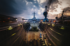 USS Stethem Yokosuka Japan (Oeil Photography) Tags: blue ship ships airplanes navy destroyer burke uss yokosuka hijacking stethem