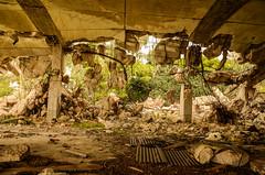 Collapsed (kutruvis nick) Tags: trees building nikon ruins iron cement hellas greece nik southeast ruined collapsed urbex attiki saronida d5100 kutruvis