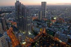Shinjuku, Tokyo  (runslikethewind83) Tags: street light sunset sky building japan buildings lights tokyo shinjuku asia traffic pentax     hdr 2015