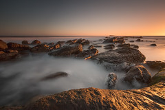 Filey Brigg Sunrise 24.01.2015 (Dave Holder) Tags: longexposure sea sunrise canon rocks surf northyorkshire filey fileybrigg