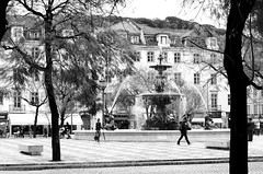 (mgkm photography) Tags: blackandwhite bw portugal calle lisboa lisbon gimp rua pretoebranco rossio streetshot urbanphotography lisboetas monochromephotography lisboanarua blackwhitephotos ilustrarportugal europeanphotography
