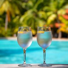 """Refreshing"" (helmet13) Tags: summer vacation sunshine lemon raw bokeh swimmingpool palmtrees tropical seychelles refreshing studies gettyimages selectivefocus sparklingwater aoi peaceaward heartaward d800e"
