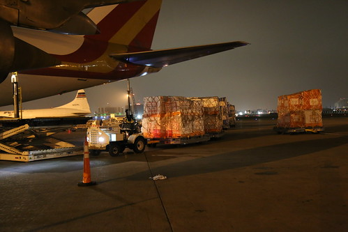 Ebola Facility Modules, Direct Relief, Airlift, LAX 110
