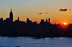 NYC Sunset (Sara Godi) Tags: nyc trip travel sunset sky usa ny newyork skyline america photo saragodi