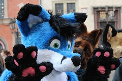 Prague Fursuit Outing 21st February 2015 (RazErCZ) Tags: fur march costume furry republic czech prague body prag praha praga tschechische republik parade full furrys furries partial fursuit fullbody czechy fursuits furmeet halfsuit fursuiters fursuiter fursuiting fursona furwalk