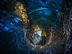 Ice Guide in Ice Tube (AnitaErdmann) Tags: winter ice iceland tube cave february icecave 2015 icetube anitaerdmann iceguide february2015 anitaerdmann2015