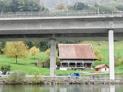 Motorway A4, Lake Zug, Arth SZ, Switzerland (jag9889) Tags: lake barn schweiz switzerland fishing europe kayak suisse suiza motorway farm swiss zug alpine kayaking a4 svizzera paddling arth ch 2010 schwyz kayaker zugersee innerschweiz e41 zentralschweiz centralswitzerland lakezug cantonschwyz y2010 suizra jag9889 luzernerstrasse