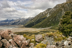 South Island (mdalmuld) Tags: newzealand mountains nature clouds canon landscape canon300d southisland inland hdr