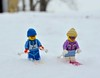 Sking in fresh powder (linda_lou2) Tags: winter snow lego skiers 52365 365toyproject day52 day52365 365the2015edition 3652015 21feb15