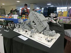 Brighton Modelworld 2015 (technoandrew) Tags: world car train layout star boat model brighton ship lego display space engine loco exhibition steam seven maglev vehicle locomotive wars buggy tugs gauge narrow rc atat caterham association brickish modelworld