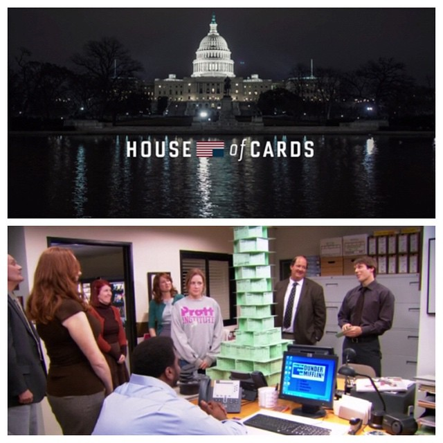 More like no house of cards.  They havent even built ONE yet!  #houseofcards #theoffice