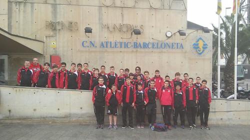 Antes de la final de la Copa Rey 2015, stage de infantiles y cadetes en C.N. Atletic-Barceloneta