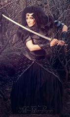Warrior cycle: Amazon queen (medusa.gorgona.photography) Tags: woman black girl beauty leather female fur amazon cosplay queen armor sword warrior armour barbarian amazonqueen femalewarrior