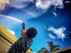 Double Rainbow. (pmpiasecki) Tags: skyscraper sky landscape kids rainbow rainbows