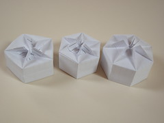 Tomillo boxes prototypes (Mlisande*) Tags: mlisande origami box tomokofuse jorgejaramillo