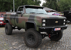 Modified CUCV (The Rubberbandman) Tags: street mag show hannover hanover chevy chevrolet silverado m1008 cucv military army pickup pick up truck america american camo car german germany offroad road school us usa vehicle fahrzeug auto outdoor