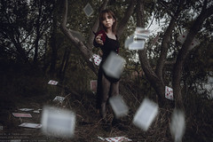 Sorceress in nightmare (TAKAGI.yukimasa1) Tags: portrait woman people girl beauty fineart japanese eos canon 5dsr asiangirl mysterious magician female dark cool forest