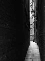 The Alley (Megashorts) Tags: york old uk england bw buildings alley yorkshire olympus pro narrow f28 omd em10 mzd 1240mm