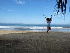 Yeeeiii !! (Nancy Garza H) Tags: sea sky cloud costa sun sol beach girl mxico wow mar agua playa paisaje nia arena cielo felicidad vacaciones alegra ocano airelibre pvallarta orilladelmar