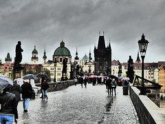 Charles Bridge - Impressive Art Effect (m_artijn) Tags: bridge art dark grey gloomy prague cloudy charles cz effect impressive