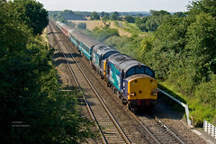 37609 and 37606 at Abbotswood (1Z10) 23.07.2016 (Wolfie2man) Tags: 1z10 directrailservices drs class37 pathfindertours thecheshirecat 37606 37609