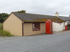 Britain's Northernmost Post Office, Baltasound, Unst, Shetland, 19 July 2016 (AndrewDixon2812) Tags: shetland unst baltasound northernmost post office telephone box village