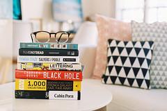 Home. (Hello i'm Wild !) Tags: analog film 35mm canonae1 kodakportra400 home books glasses patterns bokeh dof light
