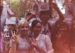 (VeronikaMagic) Tags: film life walk entertainment town orenburg russia city view lomo lomography street portrait young blond woman girl company friends sensei japanese summer spring light day sunny