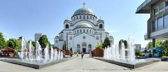 La cathédrale Saint-Sava (Vincent Rowell) Tags: raw tonemapped hdr balkans2016 sigma816mm belgrade serbia church cathedral fountain saintsava