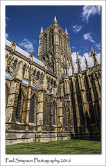 Lincoln Cathedral Tower (Paul Simpson Photography) Tags: lincolncathedral lincoln church religion religious sunshine summer sonya77 imageof imagesof photoof photosof paulsimpsonphotography bluesky viewsofthecathedral stone building lincolnshire