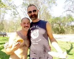IMG_6915 (danimaniacs) Tags: party griffithpark hot sexy man guy shirtless hunk beard scruff smile fun