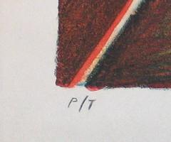 Moises Zabludovsky Serigraph Print Bullfighter 1990 (artnoy) Tags: artnoygalnum7748 moiseszabludovsky prints serigraph 1990