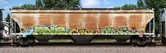 Mave/Cynic/Omek (quiet-silence) Tags: graffiti graff freight fr8 train railroad railcar art mave cynic omek ogc hopper fctx fctx260